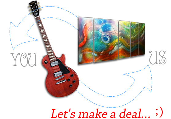 Trade/Barter for Modern Metal Wall Art & Sculptures