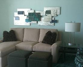 Metal Wall Art in Living Room