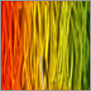 Yust metal art color color orange yellow applegreen